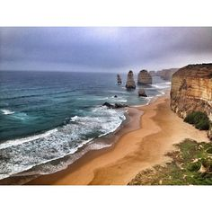 12 APOSTLES | VIC  Of course the weather wasn't great when we saw the sights of the great ocean road.. But it didn't take away from the beauty of sea sculpting the land.  #greatoceanroad #rsa_water #oceanscape #12apostles #gor #australiagram #aussiephotos #instawow #instagood #moodygrams #victoria #splendid_earth #splendid_horizon #goexplore #myadventure #nothingisordinary #exploreaustralia by cranstonpickle