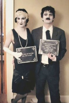 If we didn't know any better, we'd think this flapper and Charlie Chaplin duo just stepped out of a silent movie. All you need is a little black and white paint to pull this together — no speaking allowed, of course. See more at Shrimp Salad Circus »