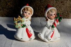 Festive Pair of Vintage Napcoware Holiday by thewhiterabbitstudio, $53.00