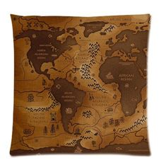 Unique Cushion Cover Case World Map Custom Zippered Pillow Case Inches(two sides) Best Christmas Gift *** You can find more details by visiting the image link. (This is an affiliate link) Hollow Earth, Custom Map, Cushions, Pillows, Best Christmas Gifts, Garland, Pillow Covers, Vintage World Maps, Photos