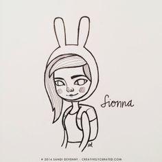 Fionna doodle by Sandi Devenny #sandidoodles #fionna #adventuretime #ink