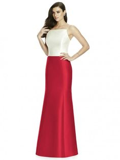 Style S2980 from Dessy Collection is a full length sateen twill gored mermaid separate bridesmaid skirt. Tops are sold separately.