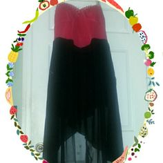 Pink and black party dress High/low pink and black with gold studs gold flava Dresses High Low