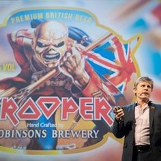 Iron Maiden's Bruce Dickinson speaks at the Online Marketing Rockstars fair in Hamburg
