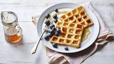 Nigella Lawson's waffles are the lazy perfect brunch dish and can be served with any toppings you choose. Grab that waffle iron and get going! Breakfast Waffles, Breakfast Biscuits, Breakfast Recipes, Nigella Lawson Waffles, Best Waffle Maker, Waffle Bowl, How To Make Waffles, Eat And Go, Brunch Dishes
