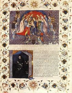The Art of the Book - Gothic illuminated pages from the century Illuminated Letters, Illuminated Manuscript, Gothic Books, Gothic Pattern, Book Of Hours, Visual Display, Prayer Book, Medieval Art, Dark Ages