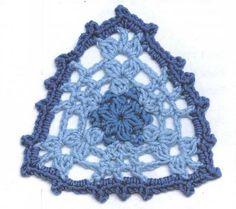 Lace Crochet Triangle Motif