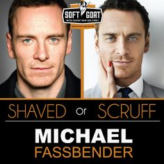 #MichaelFassbender #malegrooming #shaving #sexyscruff #stubble #mensfashion #celebrities #Hollywoodhunks