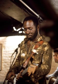 Curtis Mayfield... One of the few R&B musicians to copyright his own work so he didn't get robbed by the industry.  Aside from being a prolific composer, he was a good family man.