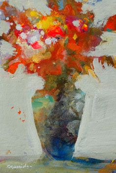 ❀ Blooming Brushwork ❀ garden and still life flower paintings - Floral Study  Robert Burridge