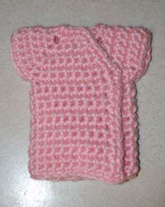 Angel baby tiny kimono gown free pattern - 15-20 weeks