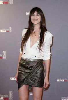 Charlotte Gainsbourg en Anthony Vaccarello - Césars 2013 - she looks so young and she is not haha