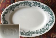 "Greenwood China 7"" platter. Backstamp dates to 1910 - 1933."