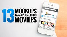 13 Mockups para aplicaciones moviles