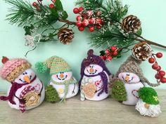 Snowman,  Snowman Figurine, Primitive Snowman,  Xmas Snowman, Cute Snowmen,  Snowman doll Decorative snowman  fabric snowman by DoMiDolls on Etsy