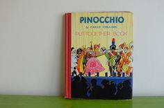 Pinocchio by Carlo Collodi 1937 Illustrated by thevintageholicfrog, $32.00