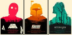 not game art, but the different levels of the backgrounds is expressed through size and color, especially in the return of the jedi poster on the right.