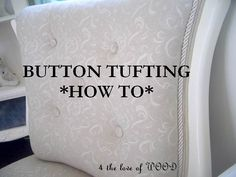 Button Tufting