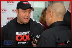 Kevin James being interviewed by Shameless MMA's Matt Sierra - Here Comes the BOOM Red Carpet Premier in Denver Oct 4th