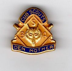 "Cub Scout - Den ""Mom"" Pin"