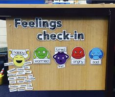 Feelings Check In Mindfulness feelings check in classroom printable from Miss Ching TPT Source by . Primary Classroom Displays, Classroom Display Boards, Year 1 Classroom, Early Years Classroom, Classroom Setup, Preschool Classroom, Classroom Organization, Reception Classroom Ideas, Google Classroom