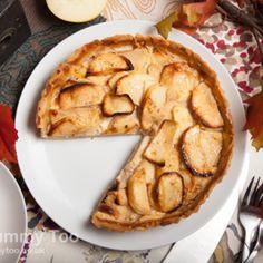 Apple cinnamon custard tart (recipe)