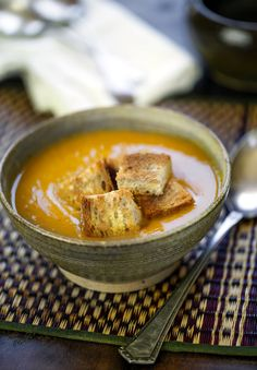 Moroccan pumpkin, chickpea & ginger soup