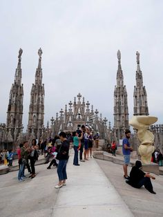 on top of the DUomo roof, Duomo di Milano, Milan, Italy | Laugh Travel Eat