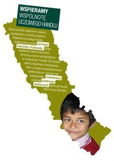 Nasze produkty wykonane z papieru, pozyskiwane w ramach programu Wspólnota Uczciwego Handlu, dostarczane są z Katmandu.