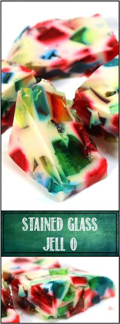 Inspired By eRecipeCards: Stained Glass Jell-o - Feeding Larry Pt 6 - Church PotLuck Salad or Dessert
