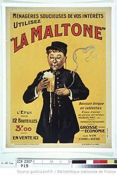 """Ménagères soucieuses de vos intérêts utilisez """"la Maltone"""" : en tablettes... (alcool=  0° ???)"""