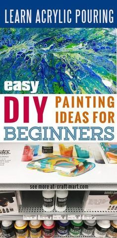 Learn acrylic pour painting techniques for your prettiest DIY wall art ever! - Craft-Mart - - Acrylic pouring - Amazingly easy and super fun technique for creating the best DIY wall art on canvas! Learn the best techniques to get terrific results! Pour Painting Techniques, Acrylic Pouring Techniques, Acrylic Pouring Art, Art Techniques, Metal Tree Wall Art, Diy Wall Art, Metal Art, Diy Wand, Diy Painting