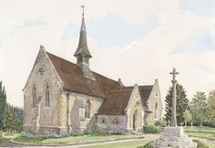 Shamley Green Church Surrey - Church Art by John Lynch