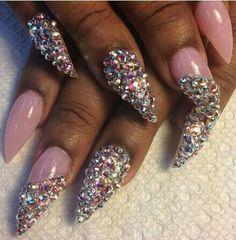 stiletto acrylic nails designs