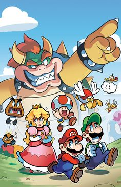 commissioned me a few days ago to do some colors on the cover to his upcoming fan-comic New Super Mario Adventures. New Super Mario Adventures Cover (commission) Super Mario Bros, Super Mario World, Mundo Super Mario, Super Mario Kunst, Super Mario Brothers, Super Smash Bros, Super Nintendo, Legend Of Zelda, Video Minecraft