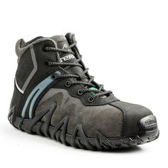 meet 7e248 cbf2f Terra Venom Mid Men s Size 10 Black Leather and Suede Composite Safety Toe  Work Shoe