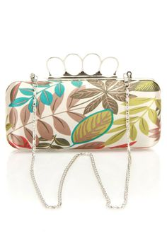 Jungle Knuckleduster Clutch In Beige.