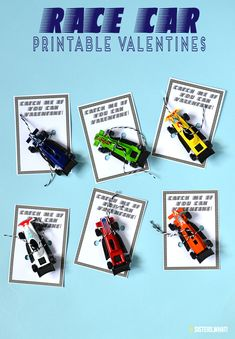 Kids Race Car Non Candy Valentines Printable : race car valentine printable for kids or adults catch me if you can printable . race car match box valentine printables the perfect cars valentine cards Valentine Gifts For Boys, Kinder Valentines, Valentine Box, Valentine Day Crafts, Gifts For Kids, Valentine Ideas, Catch, Valentine's Cards For Kids, Candy Gifts
