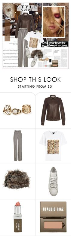"""""""#streetstyle - earth tones"""" by stylemeup-649 ❤ liked on Polyvore featuring Barker, Marni, Etro, Alexander Wang, Faux, Ann Demeulemeester and Claudio Riaz"""
