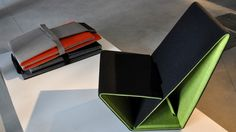 Studio Nuy van Noort has designed a foldable chair made from 100 percent recycled and recyclable materials.
