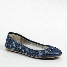 Coach navy flats. I just bought these. I hope they look great with jeans. Cant wait till fall.