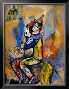 Chagall, Two Clowns on a Horse-Back