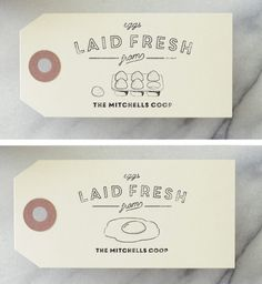 Egg Carton Tags - Chicken Coop Labels - by SubstationPaperie