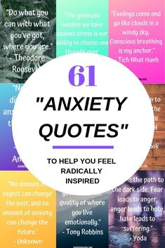61 best anxiety quotes to help you feel radically inspired! Here are my best anxiety quotes. Some made by me in my journey to a calmer mind, and some by a selection from times greatest thinkers. Let them sink in and inspire you. Anxiety Tips, Social Anxiety, Stress And Anxiety, Anxiety Help, Anxiety Facts, Health Anxiety, Overcoming Anxiety, Encouragement