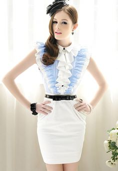 4c2c826cca54 Wonderful ladies fashion garments #ladiesfashionshopping Baby Blue Dresses,  Blue Wedding Dresses, Casual Dresses