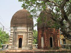 300 years old little known Terracotta temples near Shanti Niketan  #IndianColumbus  http://indiancolumbus.blogspot.com/2016/01/SupurTerracotta.html