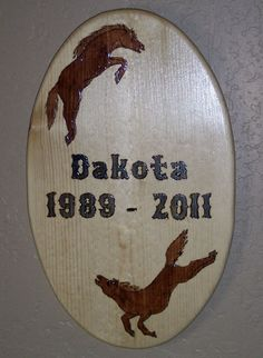Custom Wood Burned Tribute Memorial Plaque - Stained and Clear Lacquer Finished