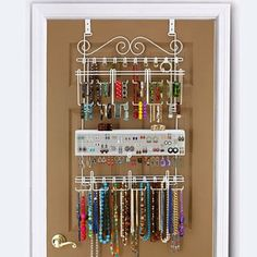 Overdoor/Wall Jewelry Organizer in White By Longstem - Unique patented product - Rated Best: Amazon.com: Home & Kitchen
