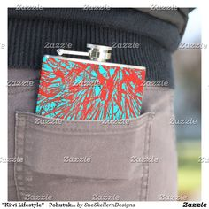 With flasks from Zazzle you are always ready for a BYOB party. Get your own hip flask from us today! Kiwi, New Product, Flask, Coin Purse, Bloom, Lifestyle, Products, Coin Purses, Gadget