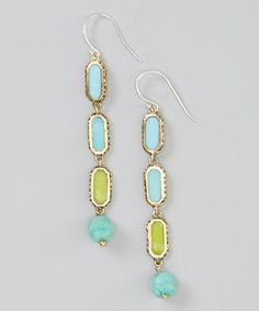 Look at this #zulilyfind! Blue & Green Cabo Drop Earrings #zulilyfinds